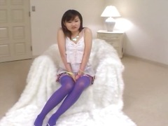Purple stockings and japanese tokyo sex