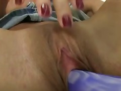 Petite mature fucks her craving cunt