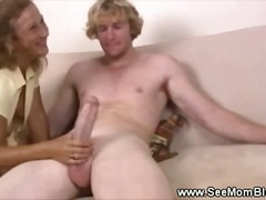 mature, threesome, cumshot