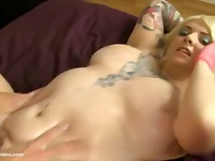 Chubby tattooed slut s...