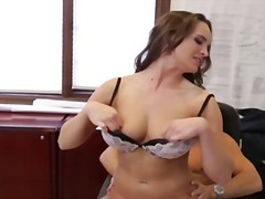 Teal conrad gets fucked by her chief for being the awesome employee