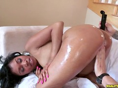 Yasmine rides cowgirl gets her ass oi...