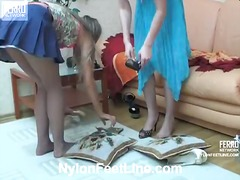 Yobt Movie:Mix of videos by nylon feet line