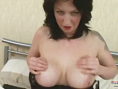 lingerie, mom, british, mature, toys, milf, busty, brunette, masturbation, boobs