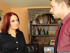 Redhead secretary gets... video