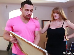 Busty cougar darla crane gets painted inside sperm by big cock art learner