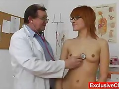 Beautiful redhead lucy bell anal plug therapy