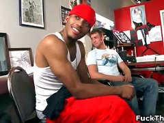 Ebony gay dude gets ti... - BoyFriendTV