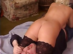 stocking, face, blonde, stockings, facefuck
