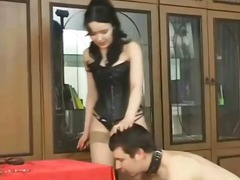 Alpha Porno - Leather corset mistres...