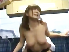 Busty asian girl getti...