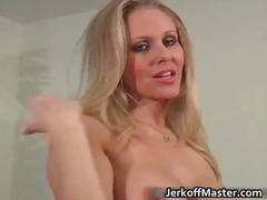 blonde, mature, nipples, titjob,