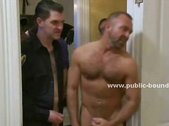 Gays enjoy puppy tied ... video