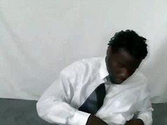 ebony, jerking, gay, solo