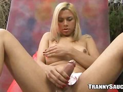 Pretty blond ts pets h...