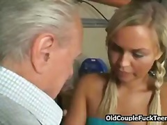 Tube8 Movie:Teeny and granny share old cock