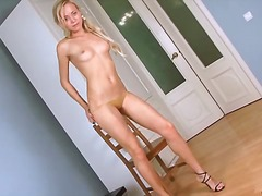 blonde, masturbation, hairy