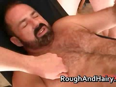 Horny gay bear trace leches getting t...