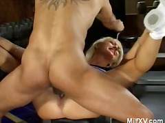 Blonde milf likes it rough