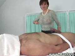 Kinky busty mature doesnt let dude en...