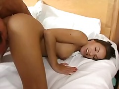 Gorgeous babe with old fart