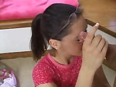 Xhamster Movie:Cute curious teen gives handjo...