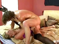 Milf takes a cock up her ass