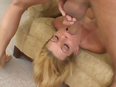 blonde, natural boobs, big cock,
