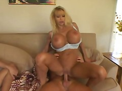 blonde, natural boobs, titjob,