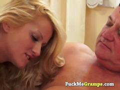 milf, older, blonde, young, blowjob,
