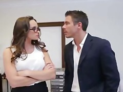 Teal conrad gets fucked by her boss for being a naughty employee