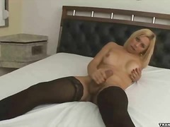 solo, blonde, stockings, stocking,