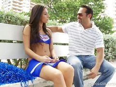 Cheerleading teen hard... video