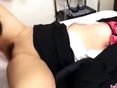 See: Office lady getting he...