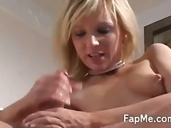 Naked blonde enjoying ... - Tube8