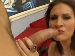 blowjob, facial, natural boobs,