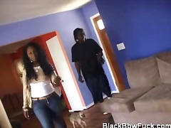 Chubby ebony flashes h... video