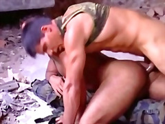 Macho gay soldiers having anal sex