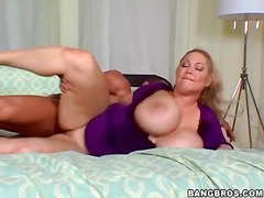 Hot blonde bbw sits on... preview