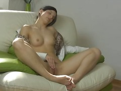 Alpha Porno Movie:Young brunette fondles and spr...
