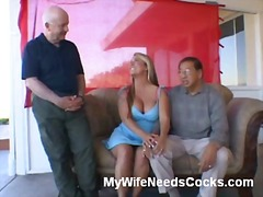 Win Porn - Curvy wife stripping in the living room
