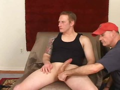 Flaming handjob for big dick - 04:00