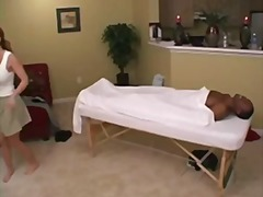 Hot cougar massage & cum swallow