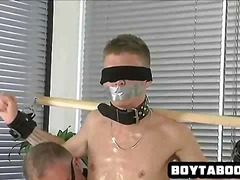 Handsome tied up hunk ... video