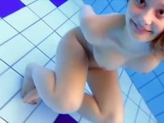 Teen in the pool has i...