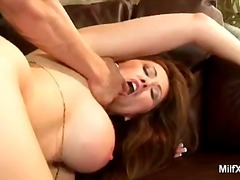 Busty milf takes on a ... video