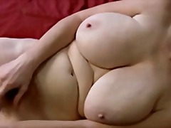 Horny granny playing with herself