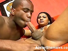 Busty tranny gets her ... video