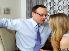Blonde close by titties has mound eaten and got laid by her teachers husband