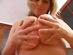 Thumb: Busty blonde solo in pink